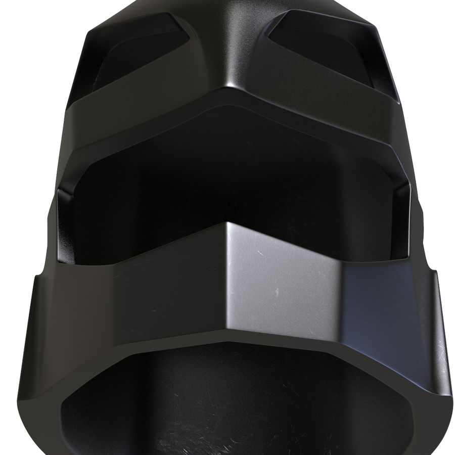 Bat Helmet royalty-free 3d model - Preview no. 8