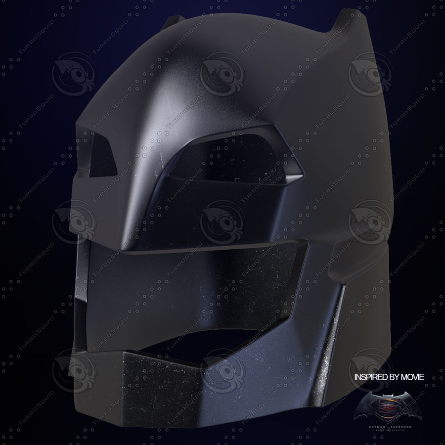 Bat Helmet royalty-free 3d model - Preview no. 2