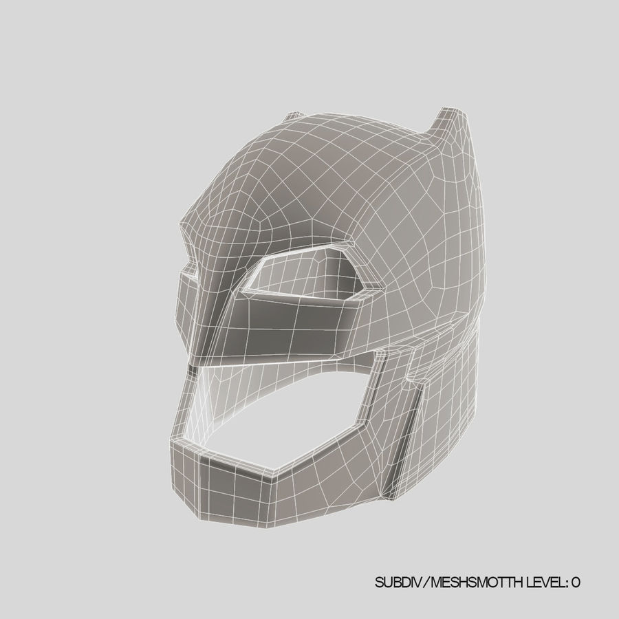 Bat Helmet royalty-free 3d model - Preview no. 13