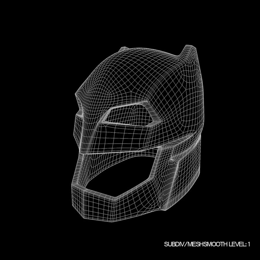 Bat Helmet royalty-free 3d model - Preview no. 12