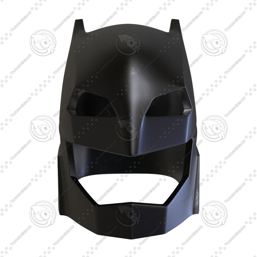 Bat Helmet royalty-free 3d model - Preview no. 4