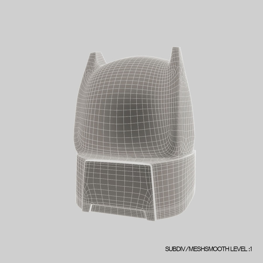 Bat Helmet royalty-free 3d model - Preview no. 15
