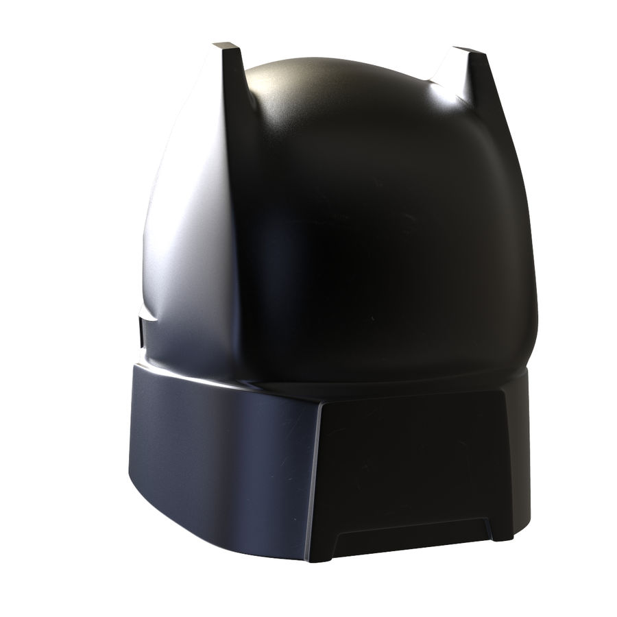 Bat Helmet royalty-free 3d model - Preview no. 6