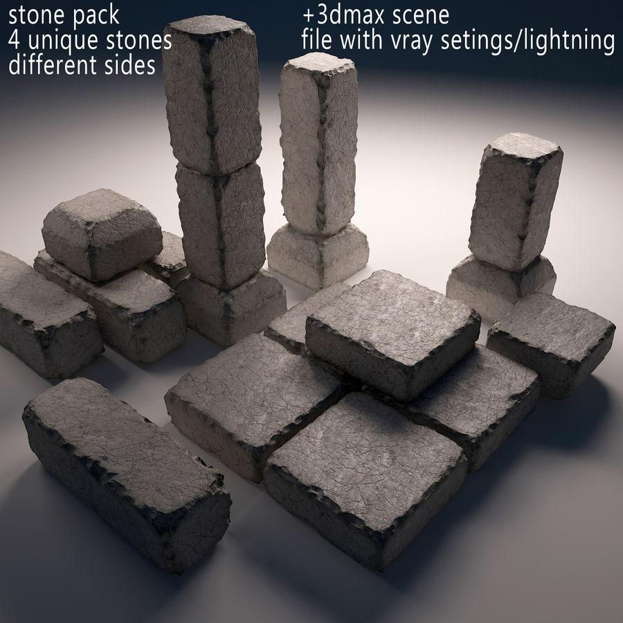 pack de pierre royalty-free 3d model - Preview no. 1
