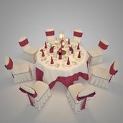 Sala per ricevimenti di matrimonio 3d model