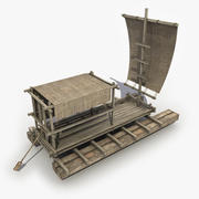 Wooden Raft 3 3d model