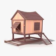 Estilo Chicken Coop Toon modelo 3d