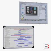 インタラクティブホワイトボード3Dモデルコレクション2 3d model
