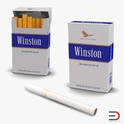 Collezione di modelli 3D di sigarette Winston 3d model