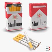 Cigarettes Marlboro Collection 3D Model 3d model