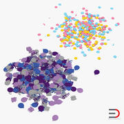 Confetti 3D Models Collection 3d model