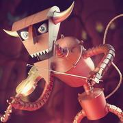 DIABLO DE ROBOT Futurama modelo 3d