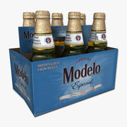 Six Pack of Modelo 3d model