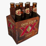 Six Pack of Dos Equis Amber 3d model