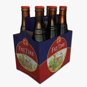 Six Pack of Fat Tire 3d model