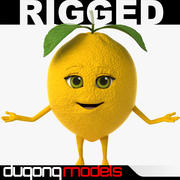 Cartoon Lemon Rigged 3d model