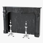 装饰性的18世纪法国路易十五壁炉 3d model