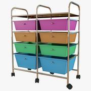 Tiroir de rangement multicolore 3d model