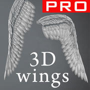 Angel Wings 3D Feathers Constantine Realistic 3d model