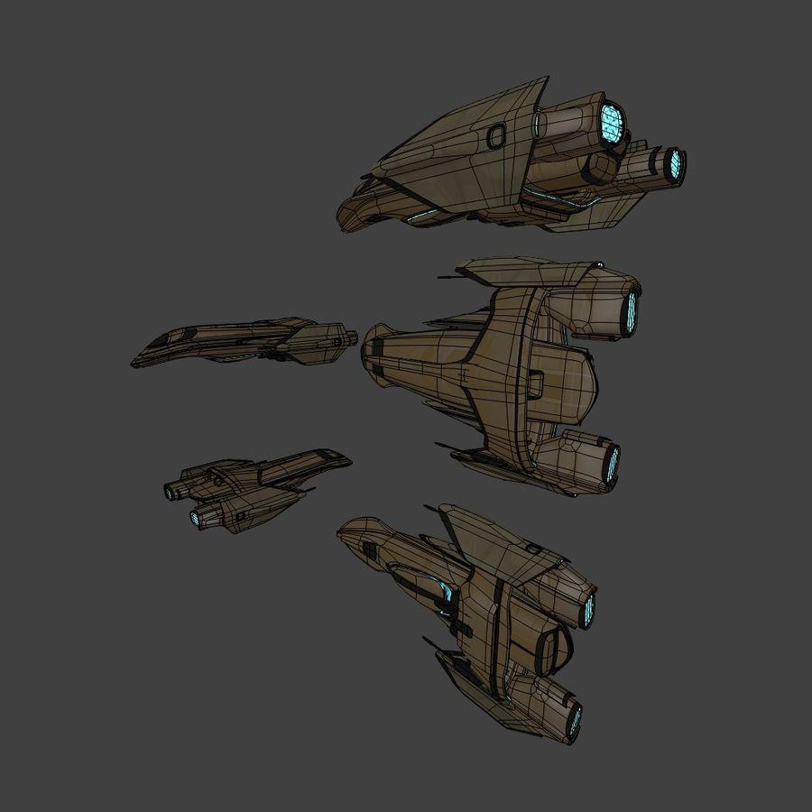 Gunship royalty-free 3d model - Preview no. 12