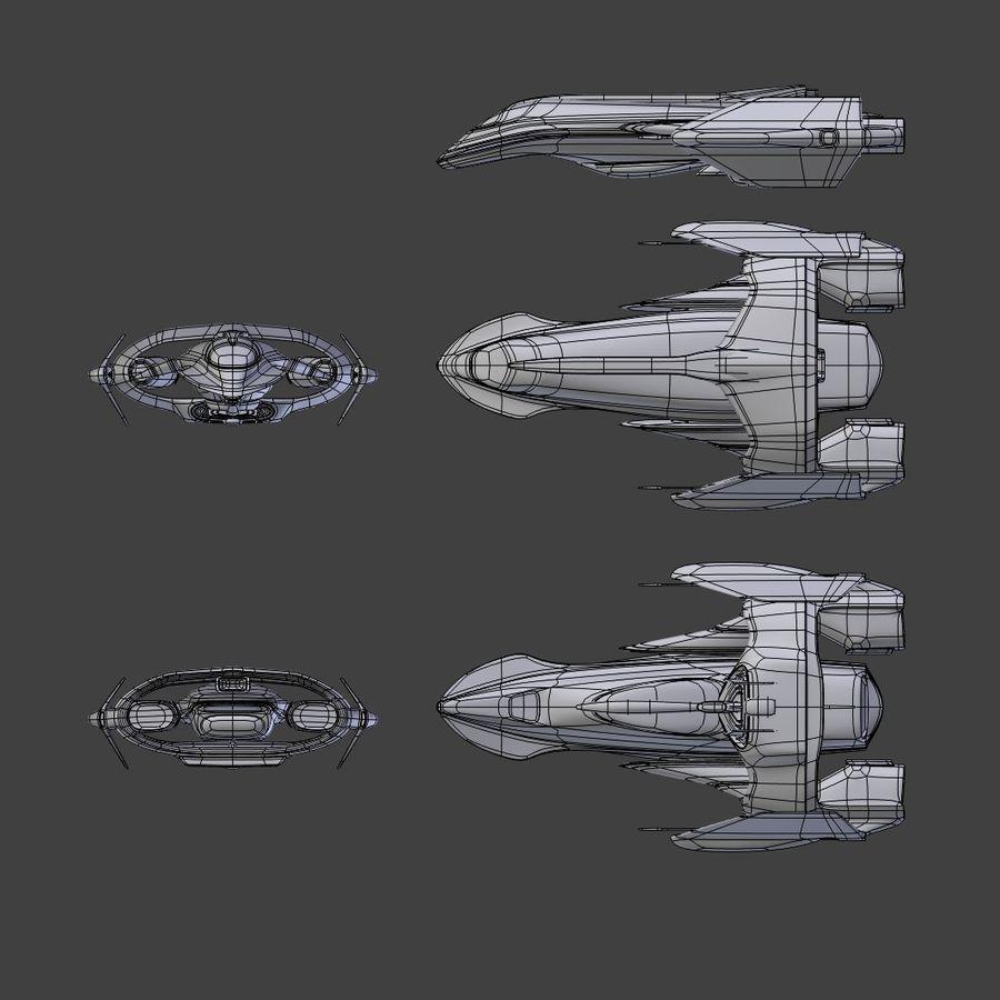 Gunship royalty-free 3d model - Preview no. 10