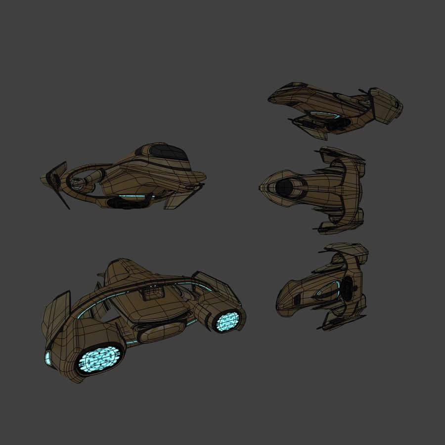 Gunship royalty-free 3d model - Preview no. 12