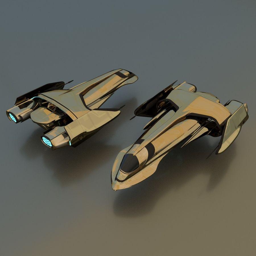 Gunship royalty-free 3d model - Preview no. 2