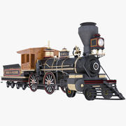 Locomotive Steam Train 3d model