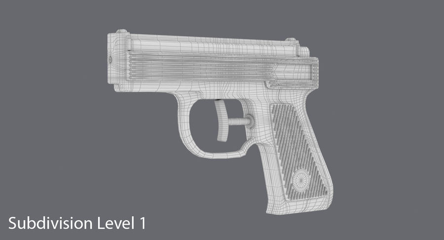 Vattenpistol royalty-free 3d model - Preview no. 11