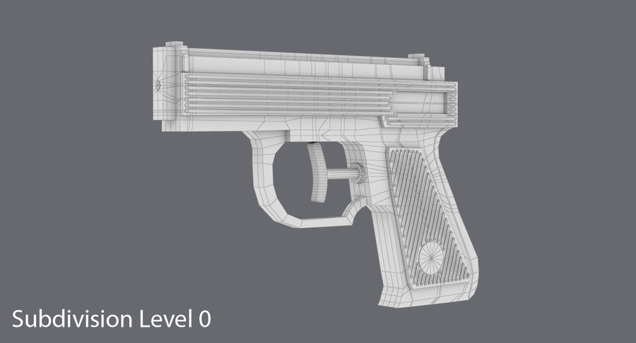 Vattenpistol royalty-free 3d model - Preview no. 10