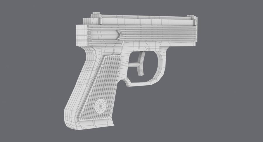 Vattenpistol royalty-free 3d model - Preview no. 15