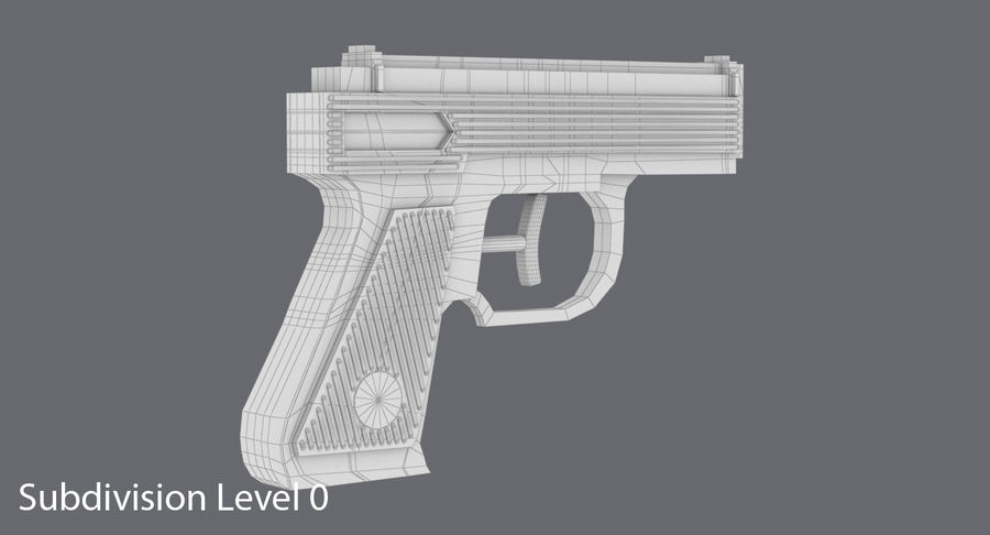 Vattenpistol royalty-free 3d model - Preview no. 12