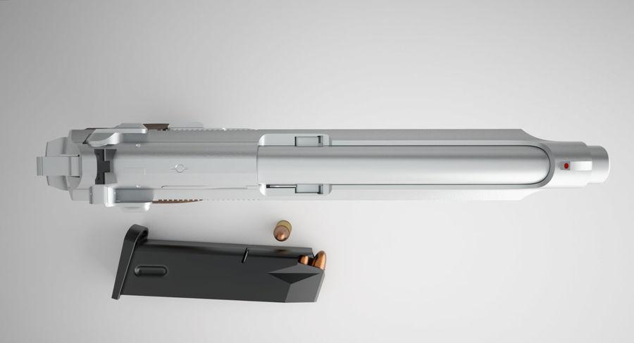 贝雷塔92FS royalty-free 3d model - Preview no. 9
