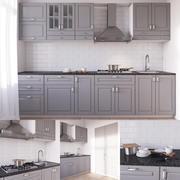 宜家BODBYN厨房 3d model