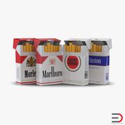 Collezione di pacchetti di sigarette aperti 3d model