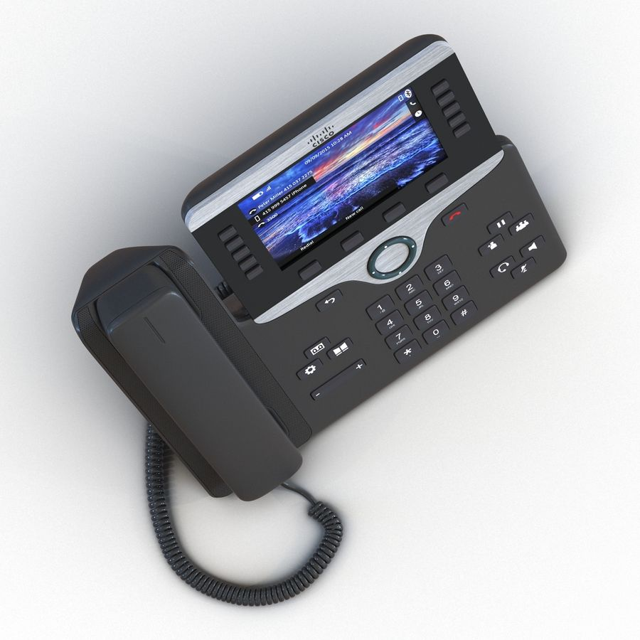 Telefone IP Cisco 8861 royalty-free 3d model - Preview no. 9