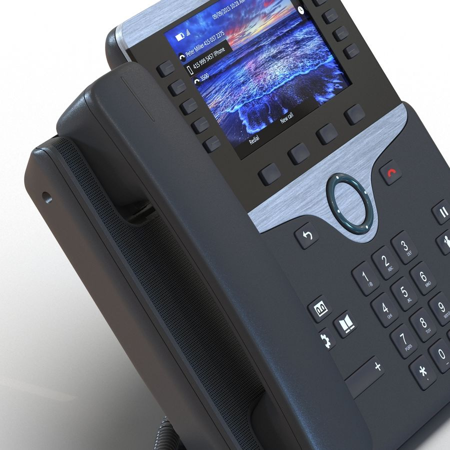 Telefone IP Cisco 8861 royalty-free 3d model - Preview no. 15