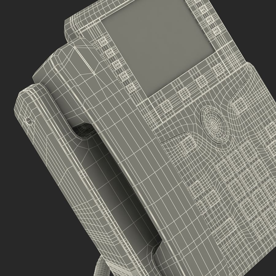 Telefone IP Cisco 8861 royalty-free 3d model - Preview no. 37