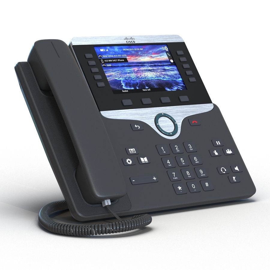 Telefone IP Cisco 8861 royalty-free 3d model - Preview no. 6