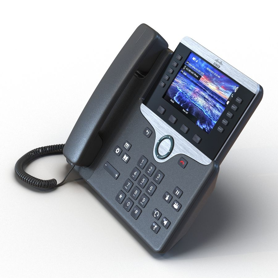 Telefone IP Cisco 8861 royalty-free 3d model - Preview no. 5