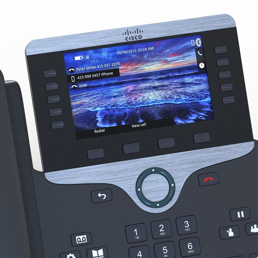 Telefone IP Cisco 8861 royalty-free 3d model - Preview no. 14
