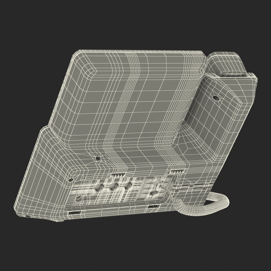 Telefone IP Cisco 8861 royalty-free 3d model - Preview no. 30