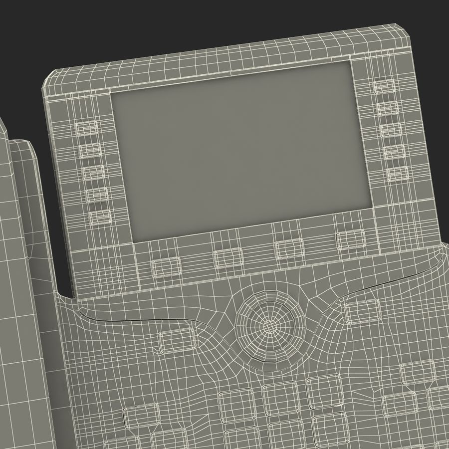 Telefone IP Cisco 8861 royalty-free 3d model - Preview no. 36