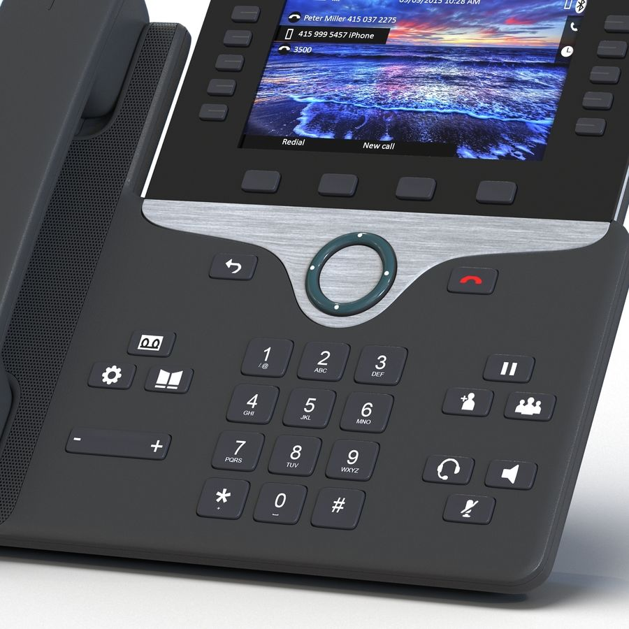 Telefone IP Cisco 8861 royalty-free 3d model - Preview no. 13