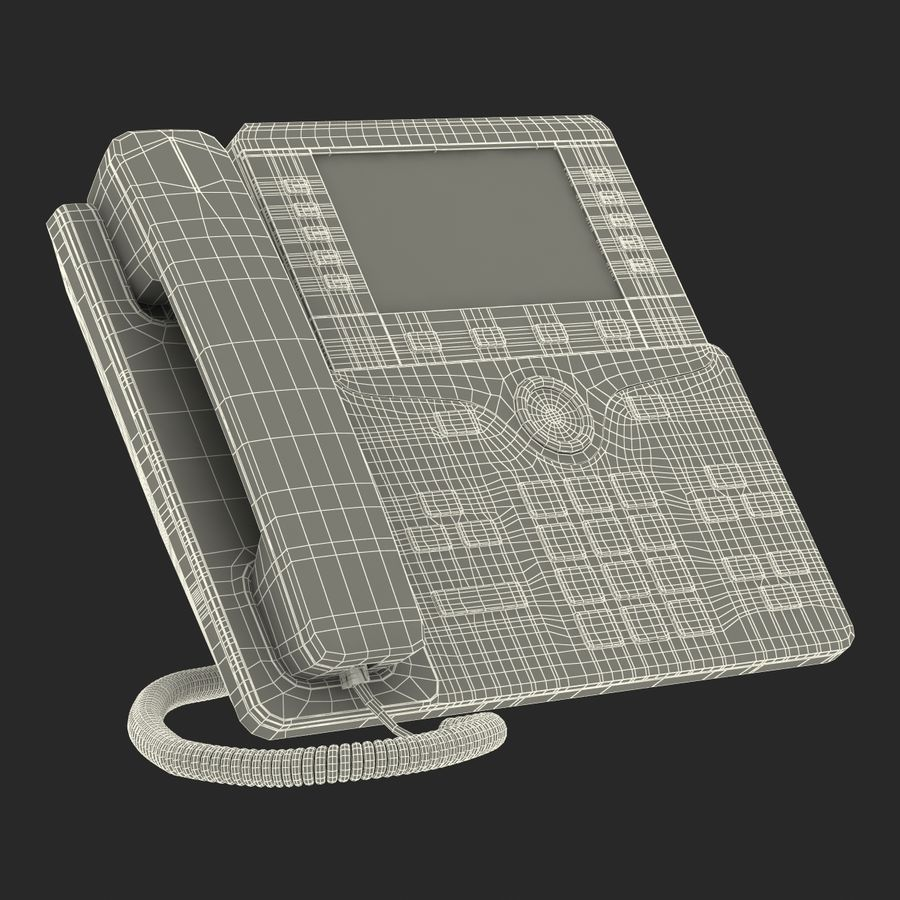 Telefone IP Cisco 8861 royalty-free 3d model - Preview no. 28