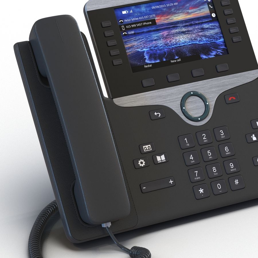 Telefone IP Cisco 8861 royalty-free 3d model - Preview no. 11