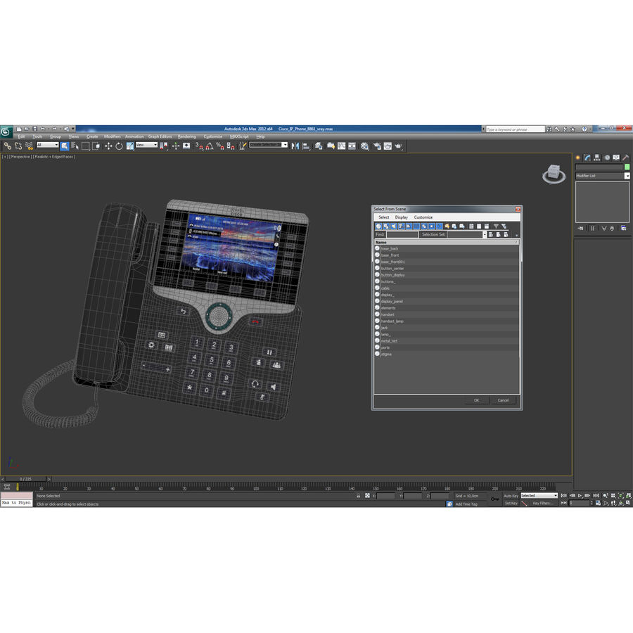 Telefone IP Cisco 8861 royalty-free 3d model - Preview no. 24