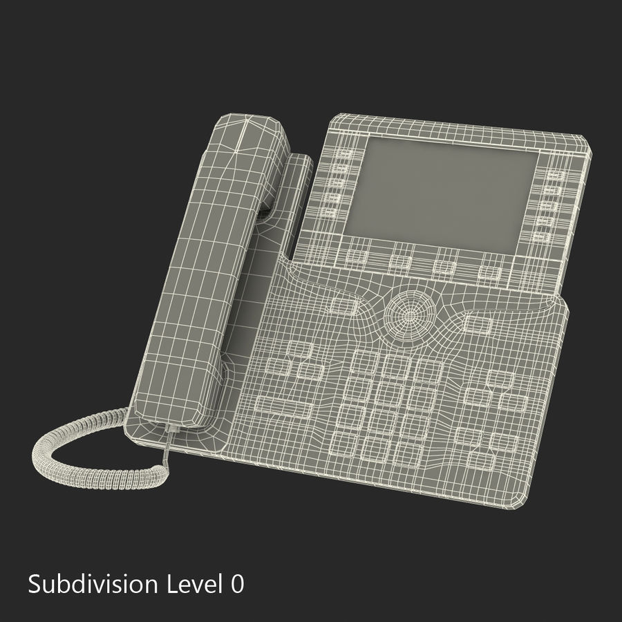 Telefone IP Cisco 8861 royalty-free 3d model - Preview no. 20