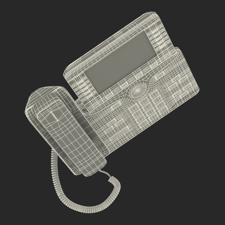 Telefone IP Cisco 8861 royalty-free 3d model - Preview no. 31