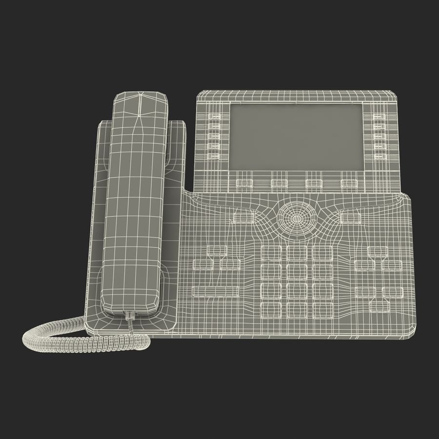 Telefone IP Cisco 8861 royalty-free 3d model - Preview no. 25